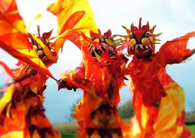 fire dragon trio