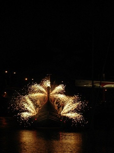 swan pyro fans